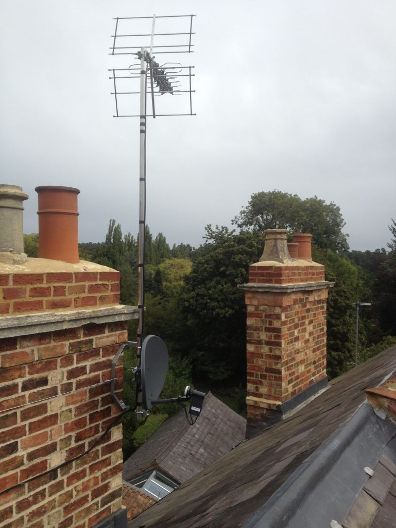 tv aerial and sky dish installation in Woburn