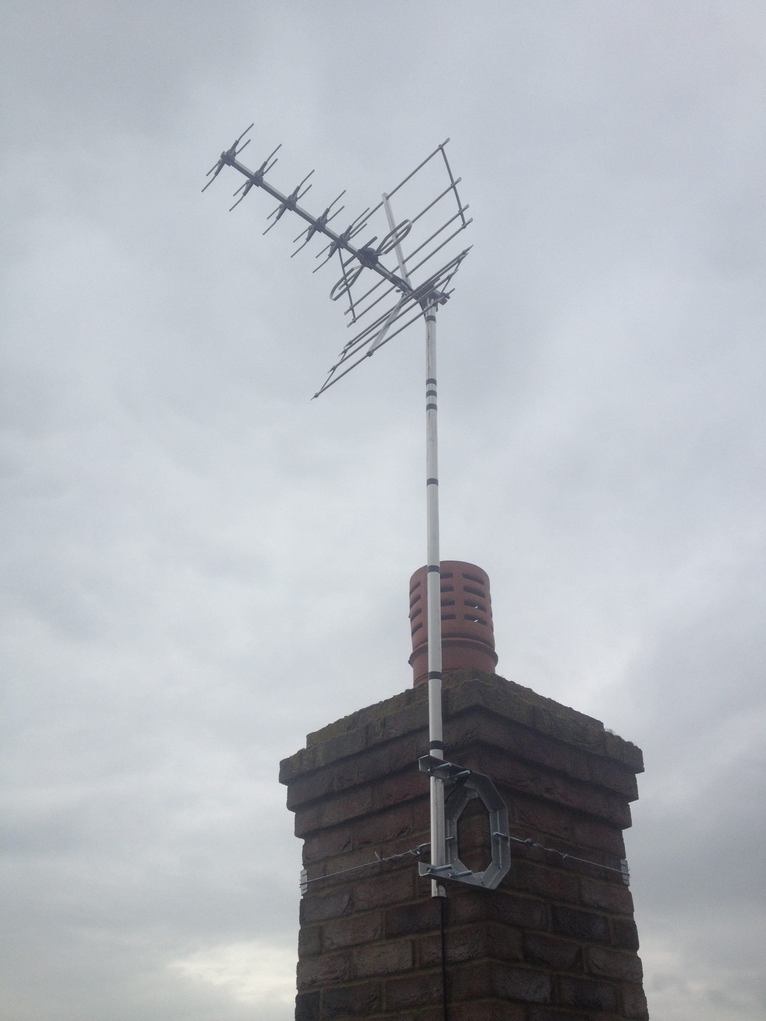 TV aerial in Harrold Bedfordshire