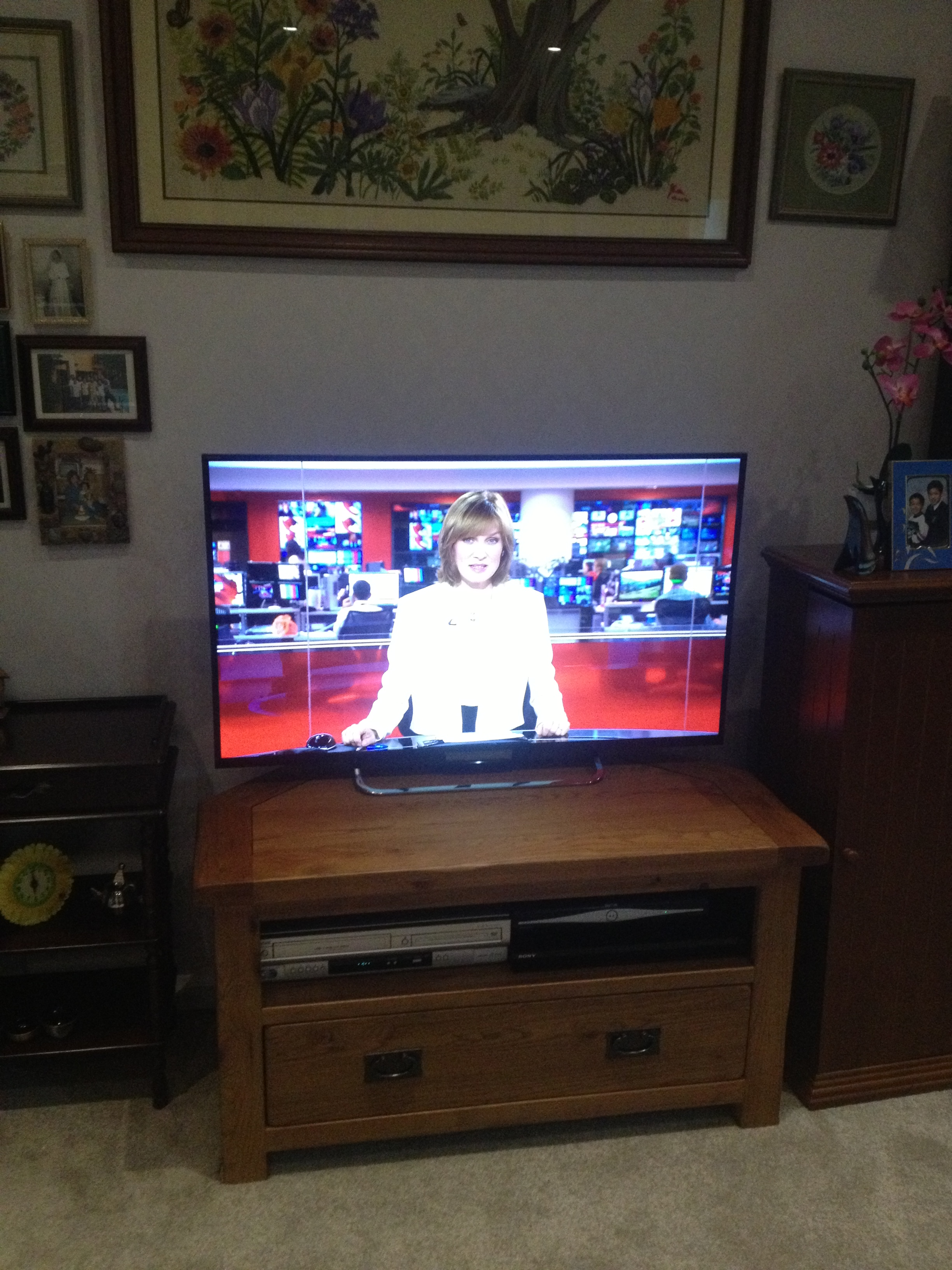 Wall mount TV and shelves in Milton Keynes